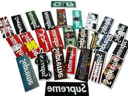 100 PCS Supreme Skateboard Longboard Vintage Decals Vinyl St
