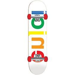 Enjoi 10517109 Spectrum Complete Skateboard, 7.5FU, White