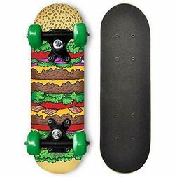 RudeBoyz 17 Inch Mini Wooden Cruiser Beginner Skateboard for