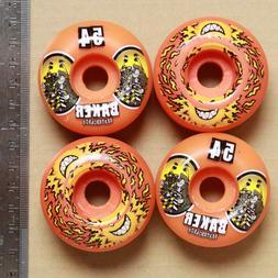 2-Spitfire/2-Baker mismatched set of skateboard wheels, oran