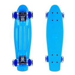 ENKEEO 22 Inch Cruiser Skateboard Plástico Banana Board con