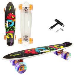 22'' Kids Flashing LED Skateboard Complete Street Long Board