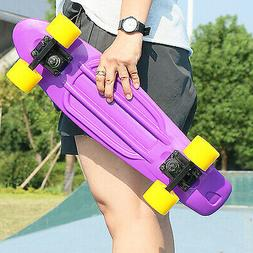 "22"" Skateboard Mini Cruiser Penny Style Board Plastic Deck 5"