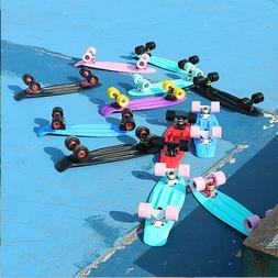 """22"""" Skateboard Mini Penny Board Plastic Deck High Rebound PU"""