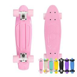 "22"" Skateboard Mini Cruiser Plastic Deck Penny Style Board U"