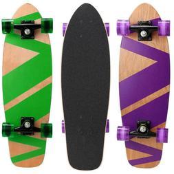 27 Inch Penny Style Board Mini Cruiser Skateboard Retro Wood