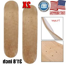 2x 8 blank skateboard decks 7 layer