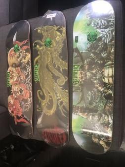 3 NEW! CREATURE × GWAR 3 Skateboard Decks.