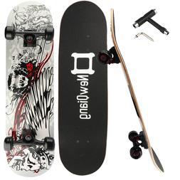 "31""X8"" Complete Skateboard 8Layer Maple Wood Skateboard Deck"