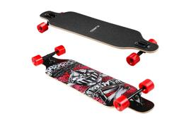 ENKEEO 41 Inch Drop-Through Longboard Skateboard
