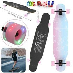 "42"" Complete Skateboard Longboard Drop Through Maple Deck Cr"