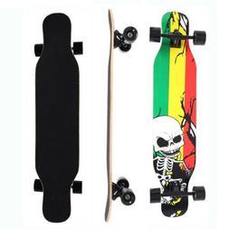 42 in Complete Skateboard Longboard Drop Through Maple Deck