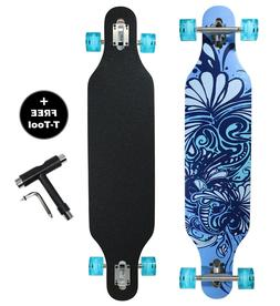 DRAYCO 42 Inch Drop Through Maple Deck Complete Longboard Sk