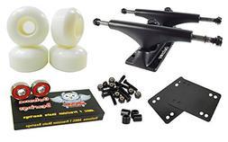Owlsome 5.25 Black Aluminum Skateboard Trucks w/52mm Wheels