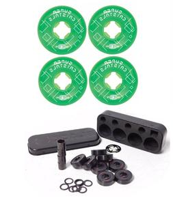 Ricta 52mm Super Crystals Green 99a Skateboard Wheels + Inde