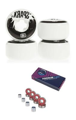 Ricta 55mm Sparx 101a Skateboard Wheels + Cal 7 Bearings and