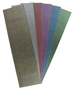 "9"" x 33"" Sheet of Black Diamond Glitter Skateboard Grip Tape"