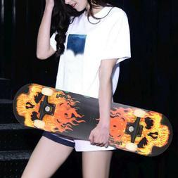 Adult Complete Skateboard Stained BLACK 31.5in Skateboards,