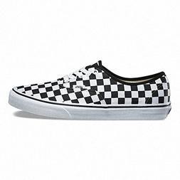 Vans Unisex Authentic Checkerboard Black/True White Size Men