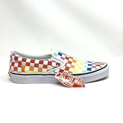 Vans Unisex Authentic Skate Shoe Sneaker  Rainbow/True White