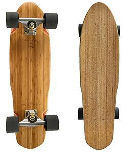 """LMAI 27"""" Bamboo Wood Cruiser Complete Skateboard"""