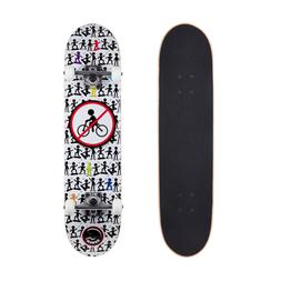 Cal 7 No Bikes 7.5 Complete Skateboard, 52x31 99A PU