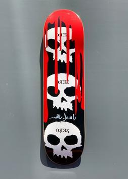 Zero Black '3-skull w Blood' Deck Signed by Jamie Thomas