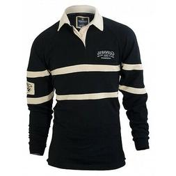 Guinness Black & Cream long-sleeve Authentic Rugby Jersey Sh