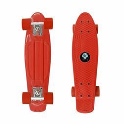 "AZM Red Penny Board Skateboard 22"" Cruiser Board"