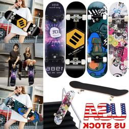 "Blank Complete Skateboard Stained BLACK 7.75"" Skateboards, R"