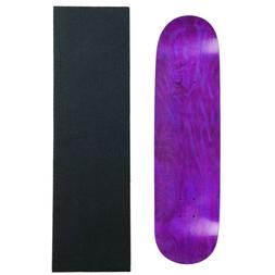 MOOSE Blank SKATEBOARD DECK 7.75 PURPLE Skateboards With Bla