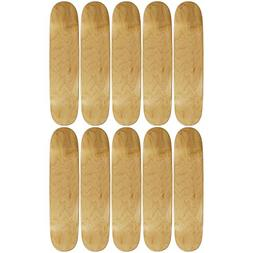 "10 Count 8.0"" Blank Skateboard Deck Natural Moose 7-Ply Cana"