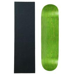MOOSE Blank SKATEBOARD DECK 8 GREEN Skateboards With Black D