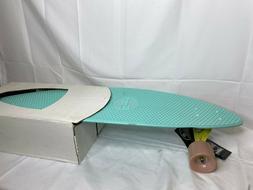 """Penny Blue Skateboard Complete 36"""" Longboard Waffle Top Reve"""