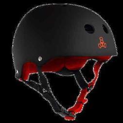 TRIPLE EIGHT BRAINSAVER Skateboard Helmet - BLACK RUBBER - S