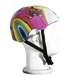 Punisher Skateboards Butterfly Jive Pink Skateboard Helmet w