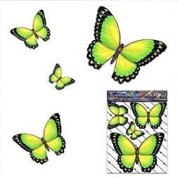 BUTTERFLY Small Yellow ANIMAL Decal Vinyl Sticker Pack For C