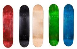 "Cal 7 8.5"" Skateboard Deck Blank Maple , Black, Red, Green ,"