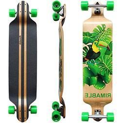 RIMABLE Canadian Maple Drop Deck Longboard Green