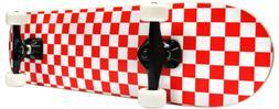 CHECKER SKATEBOARD New PRO COMPLETE RED/WHITE Checkers