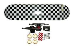 "Moose 8"" Checkered Complete Skateboard"
