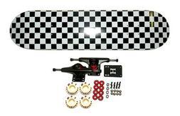 "Moose 8"" Checkered Complete Skateboard"