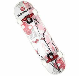 Punisher Skateboards Cherry Blossom Complete Skateboard Red
