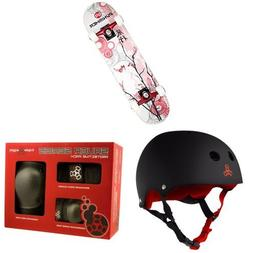 Punisher Cherry Blossom Complete Skateboard, Red, 31-Inch wi
