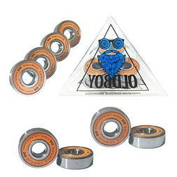 Oldboy Chrome Skateboard Bearings with tempered steel balls
