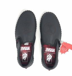VANS Classic Slip-On Marvel Black Widow Shoes Women's Size 8