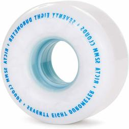 Ricta Clouds White/Blue 78A, 52mm Skateboard Wheels - 222216