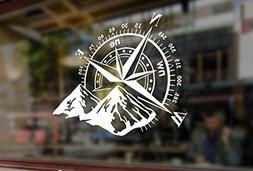 25cm Compass Rose Navigate 4x4 Offroad Mount Art Vinyl Stick