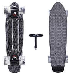 Playshion Complete 22 Inch Mini Cruiser Skateboard for Begin