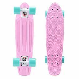 Playshion Complete 22'' Mini Cruiser Skateboard for Beginner